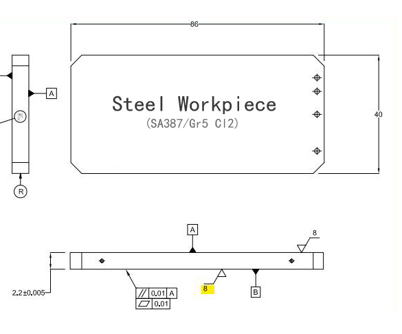 How to polish large dimension steel workpiece with flat surface burnishing tool?